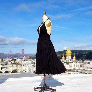 Dresses & Skirts - Cotton Halter Swing Dress, Sz M